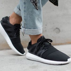 ADIDAS tubular viral core black sneakers